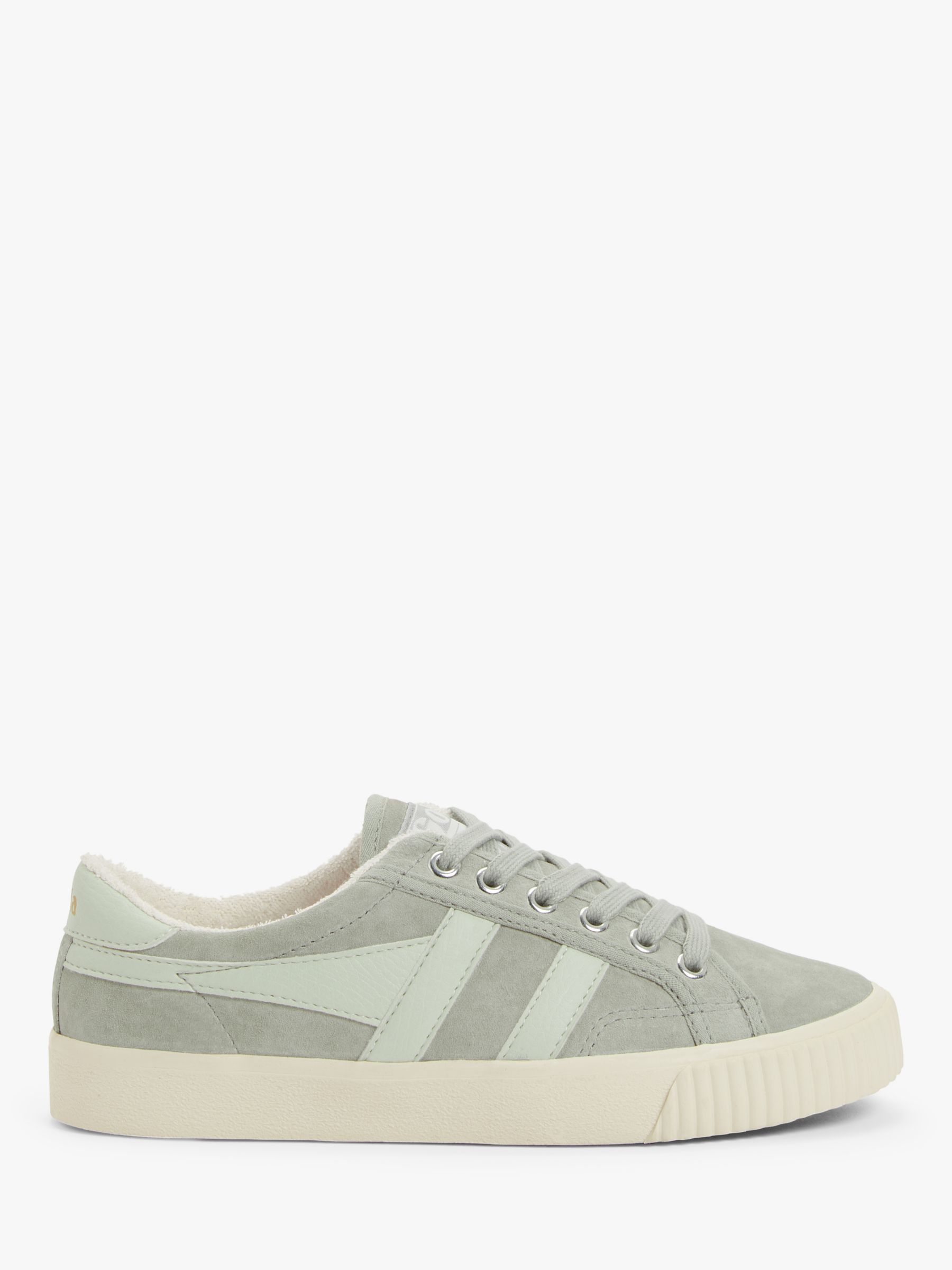 Gola Gola Tennis Mark Cox Suede Trainers, Off White/Light Grey