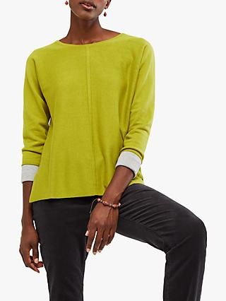 White Stuff Masterful Jumper, Grassy Green Plain