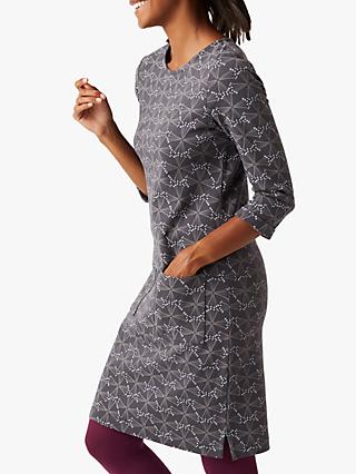 White Stuff Albie Abstract Print Tunic Dress, Grey