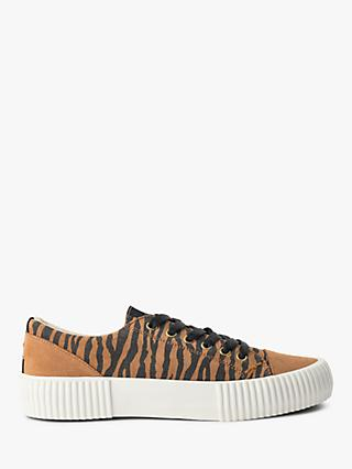 SHOE THE BEAR Andrea Zebra Print Slip On Trainers, Brown