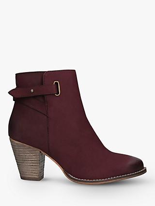 Carvela Wide Fit Smart Leather Ankle Boots
