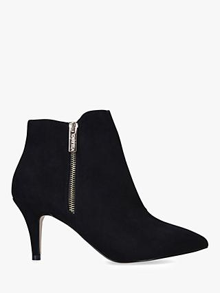 Carvela Sphinx Wide Fit Side Zip Shoe Boots, Black