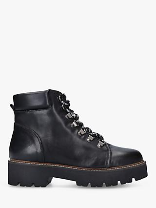 Carvela Sampha Leather Ankle Boots, Black