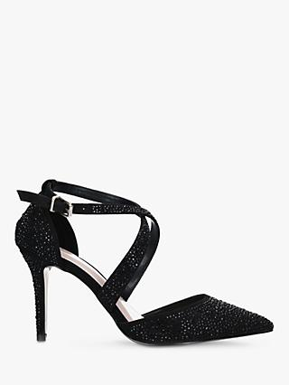 Carvela Kross Wide Fit Stiletto Heel Court Shoes, Black
