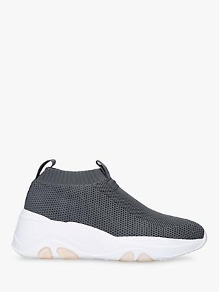 Carvela Lottery Chunky Sock Trainers, Grey