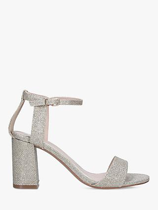 Carvela Kiki Wide Fit Block Heel Sandals, Gold