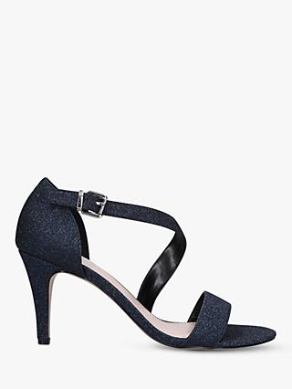 Carvela Kind Glitter Heeled Sandals, Navy