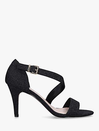 Carvela Kind Glitter Heeled Sandals, Black