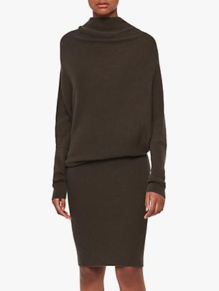 AllSaints Ridley Wool Cashmere Blend Dress, Khaki Green