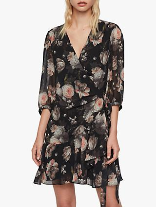 AllSaints Jade Eden Floral Dress, Black