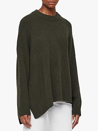 AllSaints Alley Wool Blend Asymmetric Jumper