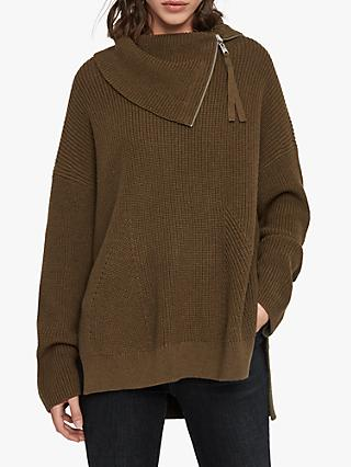 AllSaints Kadine Wool Blend Roll Neck Jumper