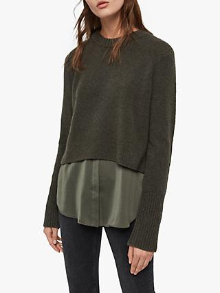 AllSaints Tierny Shirt Jumper, Military Green