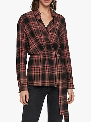 AllSaints Miki Check Shirt, Red