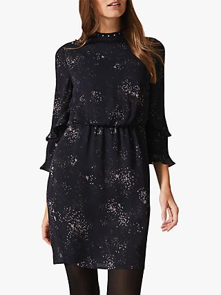 Phase Eight Star Print Dress, Charcoal