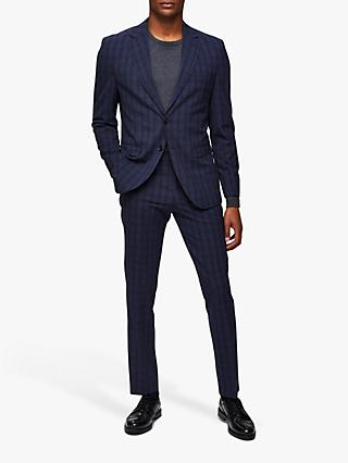 SELECTED HOMME Check Slim Fit Suit Jacket, Navy