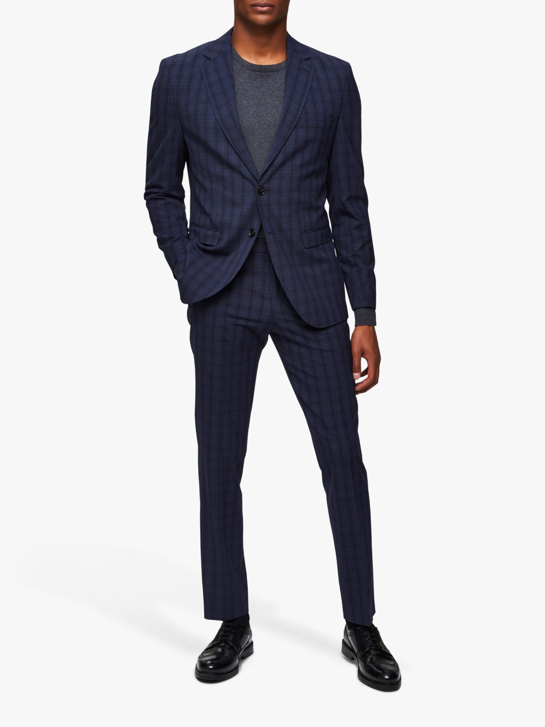 Selected Homme SELECTED HOMME Check Slim Fit Suit Jacket, Navy