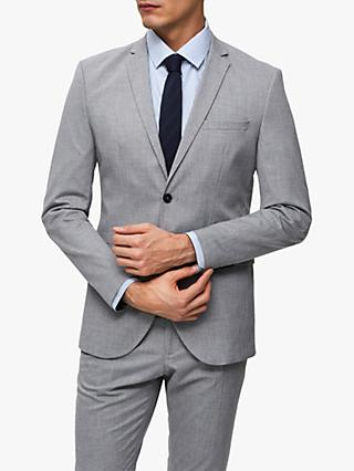 SELECTED HOMME Slim Fit Suit Jacket, Light Grey