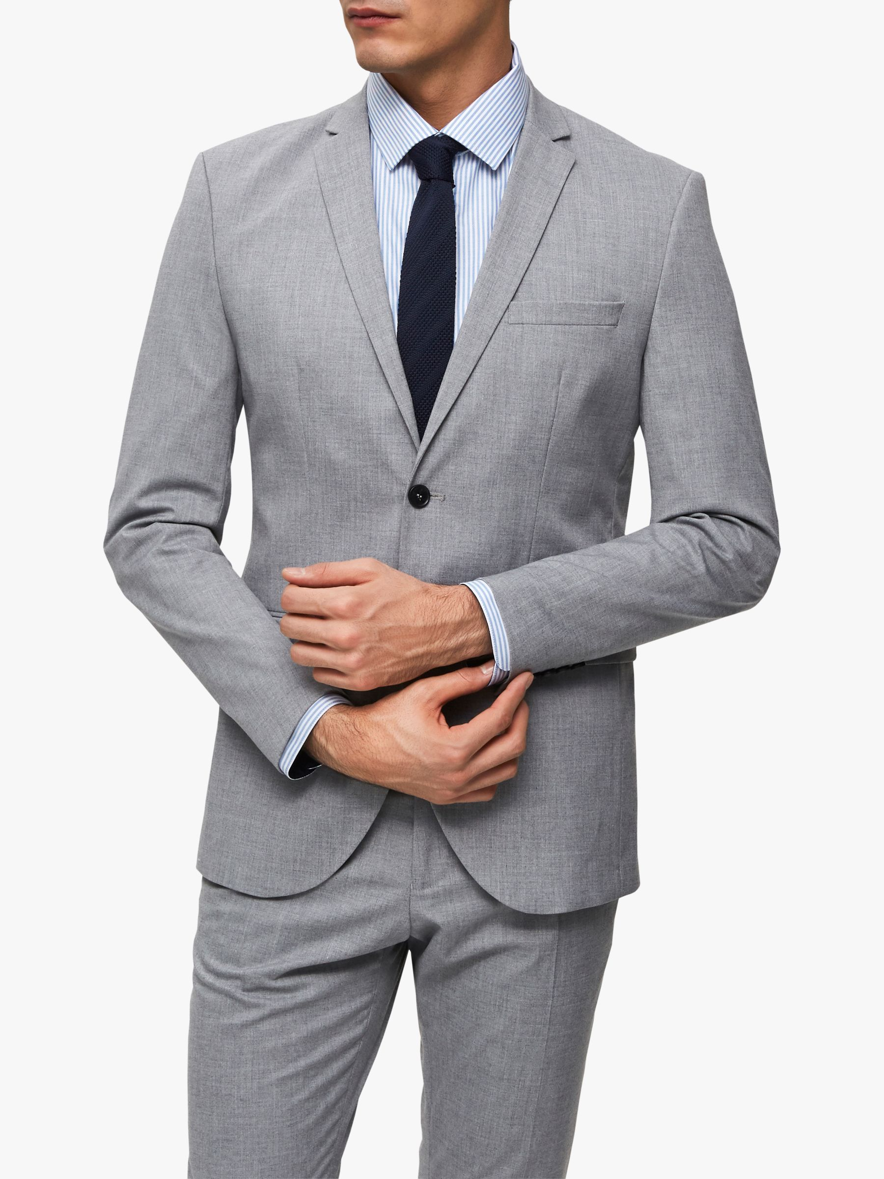 Selected Homme SELECTED HOMME Slim Fit Suit Jacket, Light Grey
