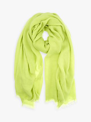 Mint Velvet Neon Textured Scarf, Yellow