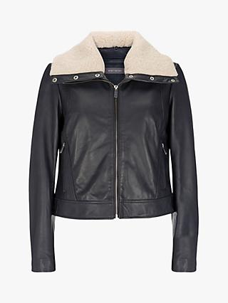 Mint Velvet Borg Leather Jacket