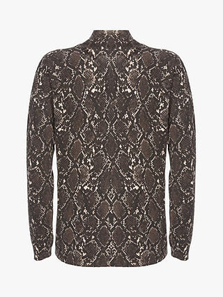 Buy Mint Velvet Snake Print  High Neck Jumper, Multi, 6 Online at johnlewis.com