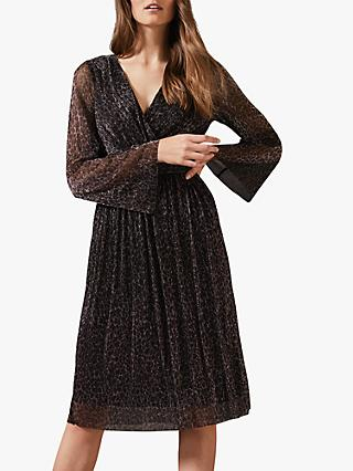 Phase Eight Kerena Animal Dress, Black