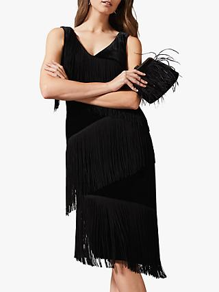 Phase Eight Miya Velvet Dress, Black