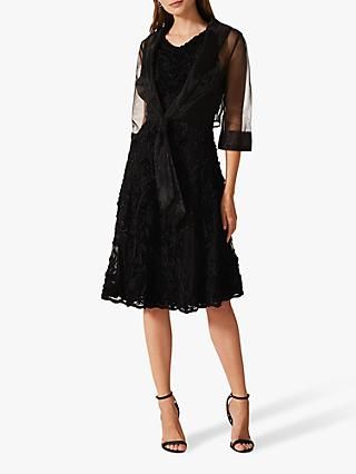 Phase Eight Frieda Sheer Organza Shrug, Black