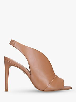 Carvela Guilty Leather Slingback Stiletto Heels, Natural