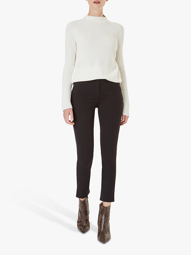 Buy Hobbs Lea Sculpting Jeans, Black, 6 Online at johnlewis.com