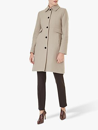 Hobbs Eris Wool Blend Coat, Pottery