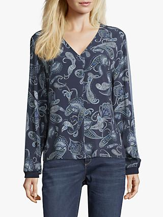 Betty & Co. Paisley Print Blouse, Blue/Grey