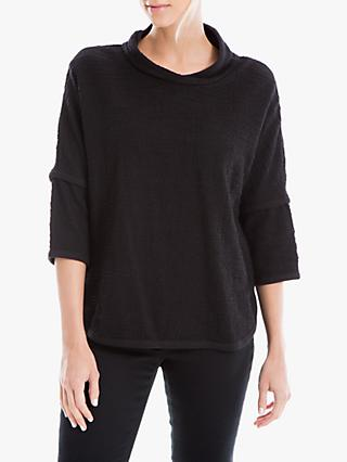Max Studio Textured Jersey Top