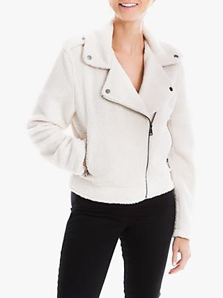 Max Studio Faux Fur Biker Jacket