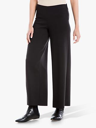 Max Studio Wide Leg Ponte Trousers, Black