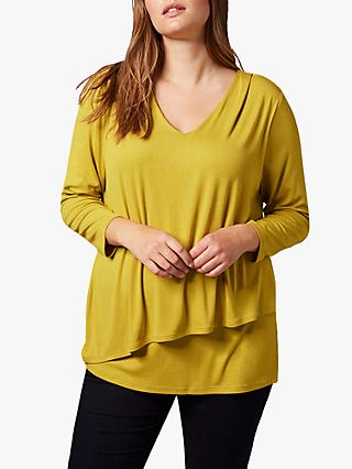Studio 8 Talia Double Layer Top, Chartreuse