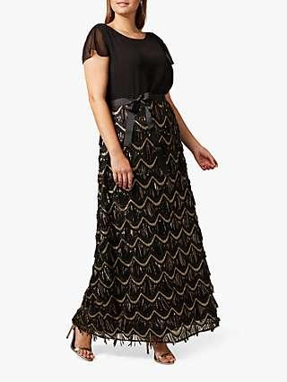 Studio 8 Hazel Sequin Maxi Dress, Black