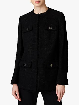 Jaeger Long Tweed Jacket, Black
