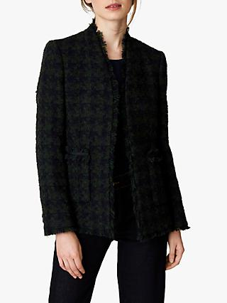 Jaeger Houndstooth Jacket, Blue/Green