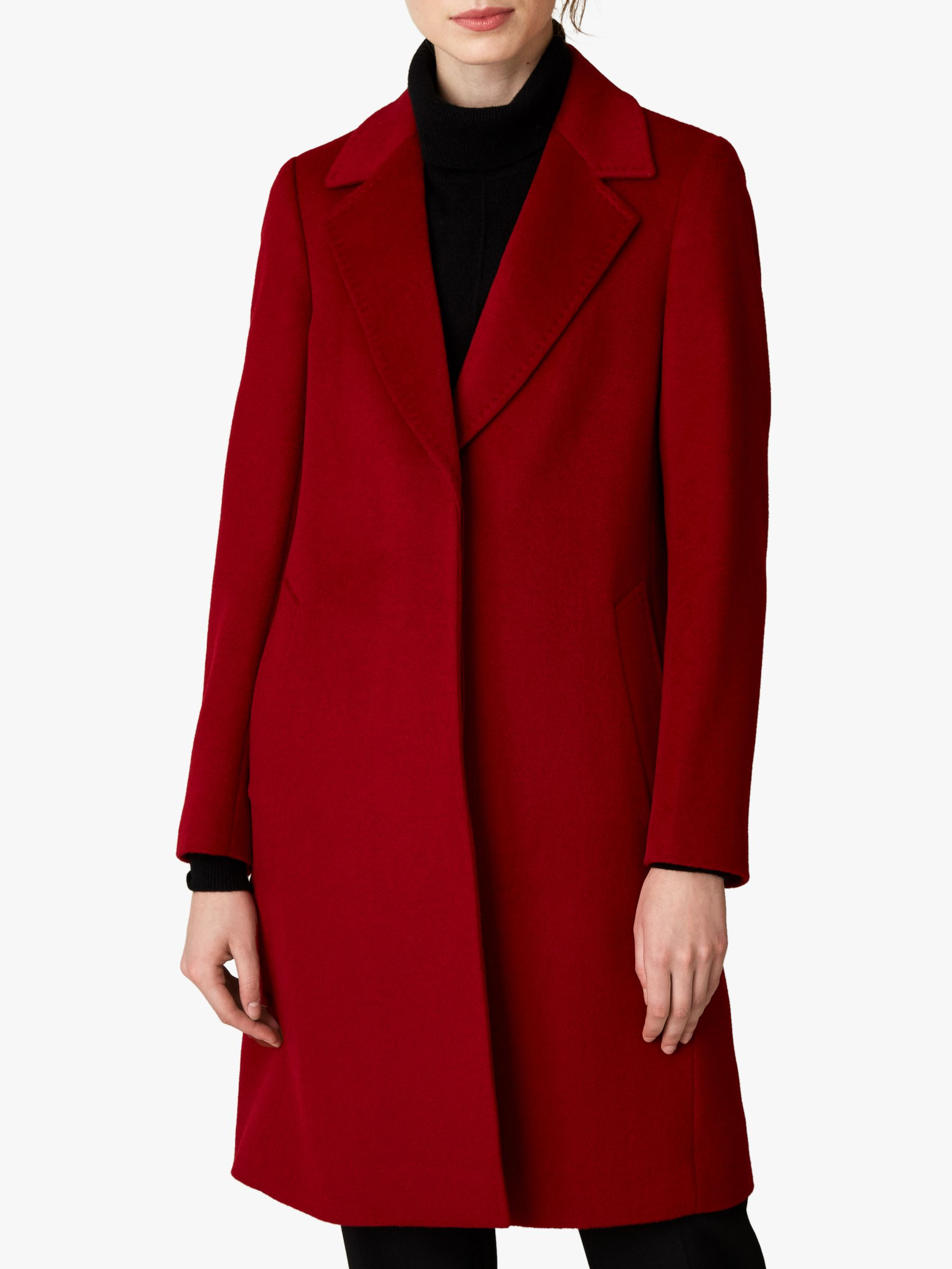 Jaeger Jaeger Wool Single Breasted A-Line Coat