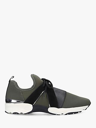 Carvela Lament Lace Up Trainers, Green