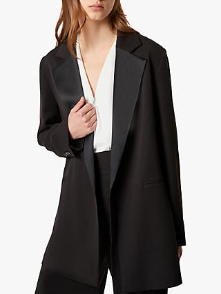 French Connection Amato Suiting Longline Jacket, Black