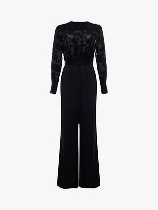 Buy French Connection Annaleigh Satin Belted Jumpsuit, Black, 6 Online at johnlewis.com