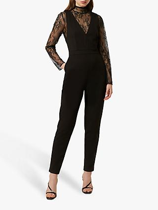 French Connection Yabtha Lula Lace Jumpsuit, Black