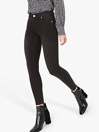 Oasis Washed Jade Stretch Skinny Jeans, Dark Grey