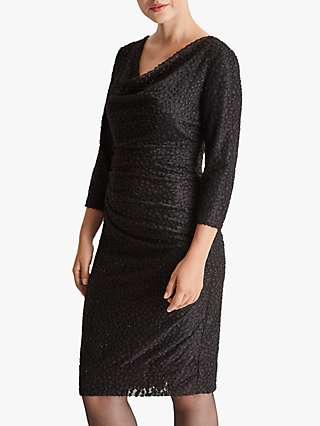 Fenn Wright Manson Evette Textured Cowl Neck Dress, Black