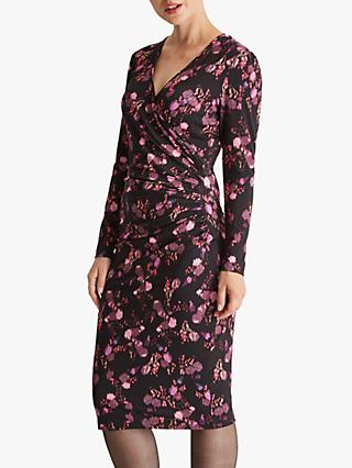 Fenn Wright Manson Elodie Floral Midi Dress, Berry