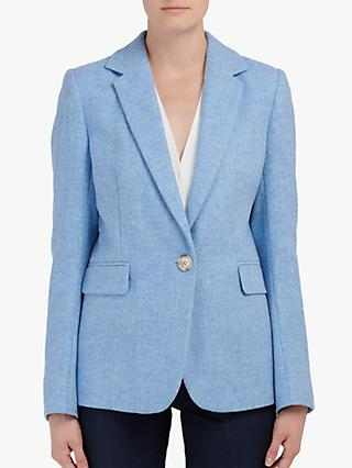 Helene For Denim Wardrobe Carinne Wool Jacket, Blue
