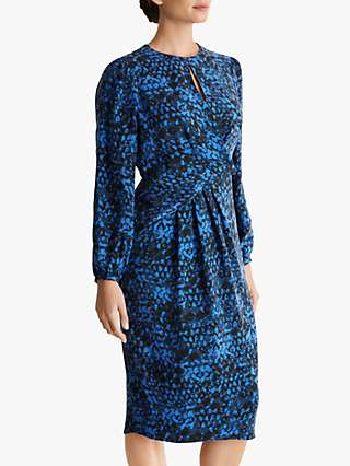 Fenn Wright Manson Petite Geoergine Animal Print Dress, Blue